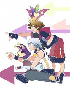 Pixiv Id 13601991, Kingdom Hearts 3D: Dream Drop Distance, Kingdom Hearts, Sora (Kingdom Hearts), Riku (Kingdom Hearts)