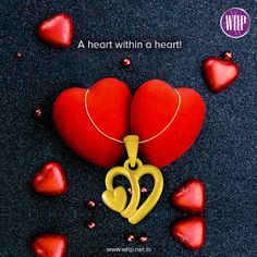 'A heart within a heart', just how you feel about the woman you love! So, here's a symbolic pendant! #WhpLovesLovers