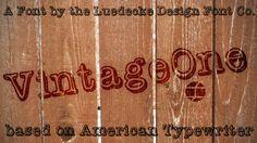 VintageOne by Jake Luedecke on @creativemarket