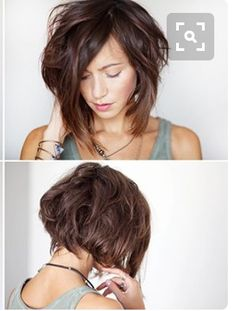 I like the shape/length in the back. Not too much layering. The front to back length doesn't have to change that much. The main thing is to get this shape. And I like her bangs here. My Hairstyle, Pretty Hairstyles, Wavy Hair, Her Hair, Fine Hair, Inverted Bob Hairstyles, Pixie Haircuts, Medium Hairstyles, Braided Hairstyles