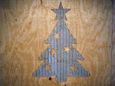 Vintage Style Corrugated Retro Christmas Tree by RockinBTradingCo, $35.00
