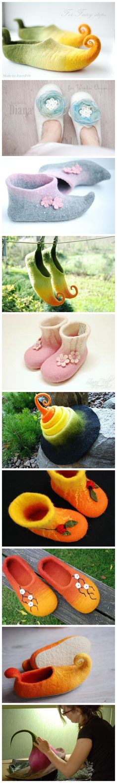 Love these felted slippers.                                                                                                                                                                                 More
