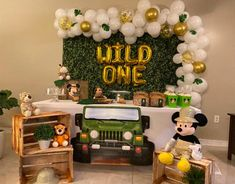 Boys First Birthday Party Ideas, Jungle Theme Birthday, First Birthday Party Themes, Wild One Birthday Party, Birthday Themes For Boys, Baby Boy First Birthday, Boy Birthday Parties, Boy Theme Party, Baby Shower Ideas For Boys Themes