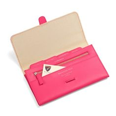 e7bb1f4a919aa Classic Travel Wallet in Smooth Neon Pink