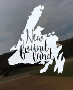 Items similar to Newfoundland Cutout Decal Sticker on Etsy