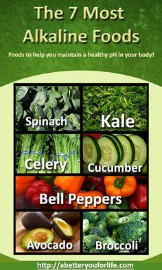 ♥❤♥❤ The Top 7 Most Alkaline Foods #health #weightloss