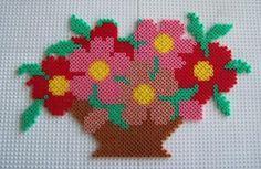 Bouquet de fleurs hama beads by perleshama30