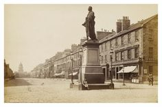 George Street looking west, with a statue of William Pitt in the foreground. The photograph was taken in 1880 by George Washington Wilson