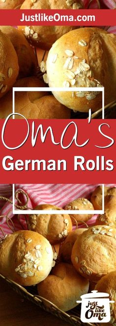 Looking for a German bread rolls recipe that's reminiscent of the Brötchen you had in Germany? Take a look at these. They are just like Oma's!