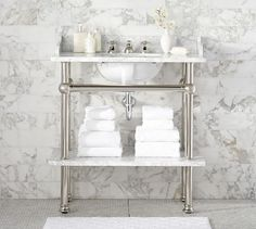Apothecary Single Sink Console | Pottery Barn