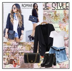 """""""Romwe 9/XV"""" by merima-p ❤ liked on Polyvore featuring T By Alexander Wang and Chanel"""