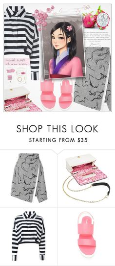 """""""☯ Mulan (2/9)"""" by paty ❤ liked on Polyvore featuring Sam & Libby, Norma Kamali, P.A.R.O.S.H., Identity and Disney"""