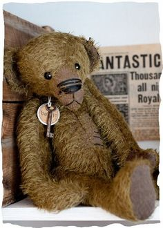 """Bertie"", mohair vintage teddy bear, photo by Nicky"