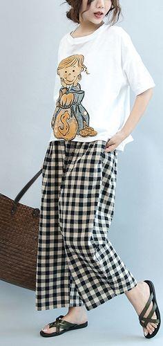 summer white girl prints cotton batrwing short sleeve t shirt