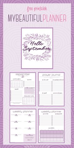 Free Printable September 2017 Planner {newsletter subscription required}