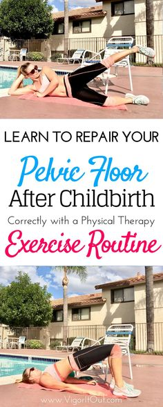 Physical therapy pelvic floor exercises to rehab post baby. The facts are that you need targeted workouts to strengthen your pelvic floor postpartum. Whether you're suffering from incontinence, pain, diastasis recti, or a uterine prolapse this routine can Post Baby Workout, Post Pregnancy Workout, Pregnancy Info, After Baby Workout, Post Baby Diet, Post Baby Body, Pregnancy Care, Diastasis Recti Exercises, Ab Exercises