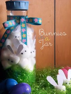 10 Fun Easter Crafts for Kids- Bunnies in a Jar