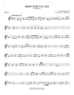 How Far I'll Go Sheet Music, Piano Chords, Notes by Alessia Cara