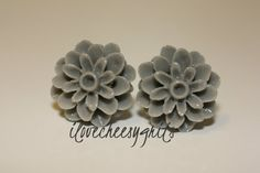 DOVE GRAY MUM~  Flower Earrings, Daughter Earring, Flower Girl Gift, Easter, Easter Gift , Spring Fashion, Pastel Earring, ilovecheesygrits
