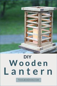 Looking for decorative elements for your deck or patio. Hang or place on a table. These are elegant, simple, rustic, sophisticated and Asian inspired wooden lanterns. Create/ build these quick and easy woodworking project DIY Wooden Lantern - Toolbox D