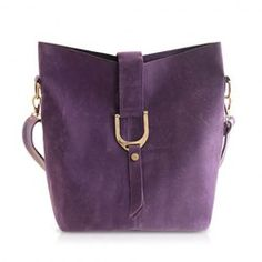 Trendy Suede Women's Cross-Body Bag With Solid Color and Metallic Design
