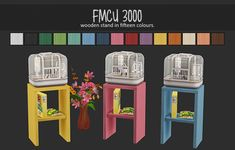 All of my sims kids roll wants for womrats at some point and because they always get them I decided it was time to add more colour options to my game. These are recolours of the wooden stand only. All of the cages are white since its the only one I. The Sims 2, Sims Four, Sims 4 Mm, Mods Sims, Sims 4 Game Mods, Sims 2 Pets, Muebles Sims 4 Cc, Sims 4 Children, Casas The Sims 4
