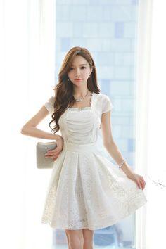 Korean Women`s Fashion Shopping Mall, Styleonme. Korean Dress, Beautiful Asian Girls, Beautiful Women, Sweet Dress, Asian Beauty, Natural Beauty, Asian Fashion, Women's Fashion Dresses, Asian Woman
