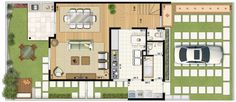 Grands Salons, Construction, Close Image, Small Apartments, Architecture, House Plans, Sweet Home, Floor Plans, Layout