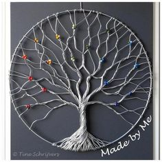 """Levensboom - Tree of life """"Enhance the beauty of your interior by using the . - Levensboom - Tree of life """"Enhance the beauty of your interior by using the metal tree wall art"""", """"Discover thousands of images about"""" Leaf Wall Art, Metal Tree Wall Art, Metal Art, Wood Wall, Wire Wrapped Jewelry, Wire Jewelry, Jewlery, Wire Tree Sculpture, Sculpture Art"""