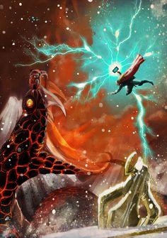 Jormungand VS Thor by Nid0deviantart
