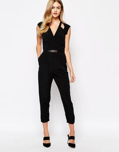River Island | River Island Cut out Jumpsuit at ASOS