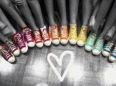 Colorful Converses <3