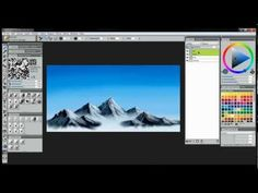 Watch my FREE video tutorial that will teach you how to paint mountains using Corel Painter 12 and a drawing tablet.
