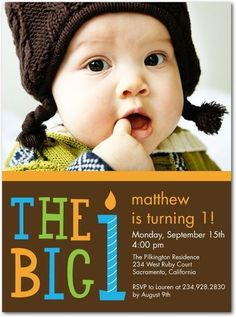 1st birthday party invitations - boys