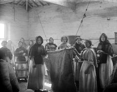 Women and girls working with textiles in a Victorian factory.  Mills employed both women and girls as cheap labour.  The 19th Century Factory Reform Acts improved conditions for women as well as for children.