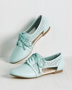 Make a statement  Dare to mint in our cut-out Steamy flats.