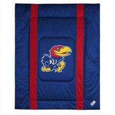 Ncaa University of Kansas Sidelines Comforter, Blue