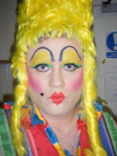 Image result for pantomime dame makeup