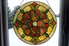 Round Stained Glass Panel - Delphi Artist Gallery by Dwight