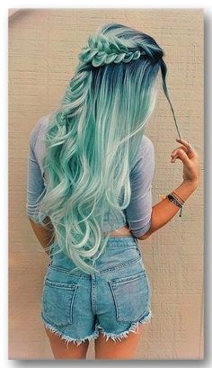 blue ombre hair color trend in trendy hairstyles and colors blue omb.,blue ombre hair color trend in trendy hairstyles and colors blue ombre hair; Cute Hair Colors, Hair Dye Colors, Ombre Hair Color, Cool Hair Color, Blue Ombre, Hair Styles With Color, Brunette Color, Long Hair Colors, Blonde Color