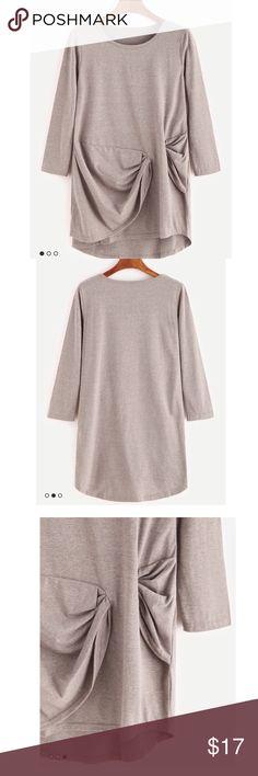 Draped Twist Front Shirt Runs small!! Brand new Tops Blouses