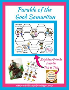 Sunday School Lessons, Sunday School Crafts, Lessons For Kids, Bible Lessons, The Good Samaritan Lesson, Good Samaritan Craft, Bible Study For Kids, Kids Bible, Parables Of Jesus