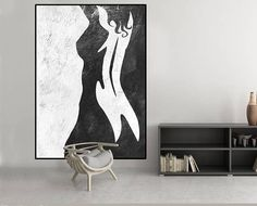 Huge Large Canvas prints add a unique touch to your home. Modern, stylish and unique design will be the most special piece of your decor. Especially for those who like abstract works, black and white acrylic painting can be prepared in desired sizes large abstract acrylic painting on canvas, modern original painting black and white,, mid century large abstract art, Contemporary Painting 16x24 (40x60cm) $75 20x30 (50x76cm) $110 30x40 (76x102cm) $180 36x48(92x122cm) $240 40x53.5(102x136cm)…
