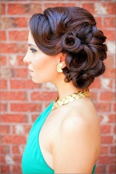 Updo Retro Wedding Hairstyles