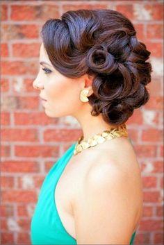 Updo Retro Wedding Hairstyles
