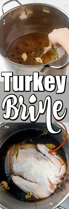 This Turkey Brine will leave your turkey tender and moist every time with fantastic results. This Turkey Brine will leave your turkey tender and moist every time with fantastic results. Smoked Turkey Brine, Easy Turkey Brine, Juicy Turkey Recipe, Turkey Recipes, Pasta Recipes, Chicken Recipes, Keto Recipes, Dinner Recipes, Broccoli Recipes