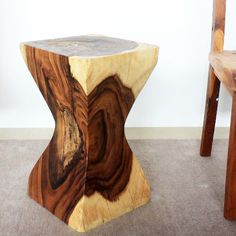 Rest stool or display stand hand carved #woodfurniture