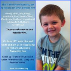 Faces of Apraxia/ My precious nephew!  So proud of him!!!!