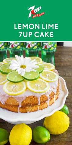 Your request for the perfect summertime dessert has been answered with this recipe for Lemon Lime 7UP® Cake! With the flavors of lemon and lime, in each moist bite, it's not hard to see why this refreshing baked good screams summer. Grab all the ingredients you need for this recipe at Walmart, slice, and enjoy with your family and friends!