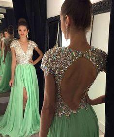 Open back prom dresses, cap sleeve prom dresses, long prom dresses, prom dresses…